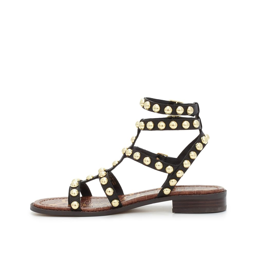 Black gladiator sandals uk