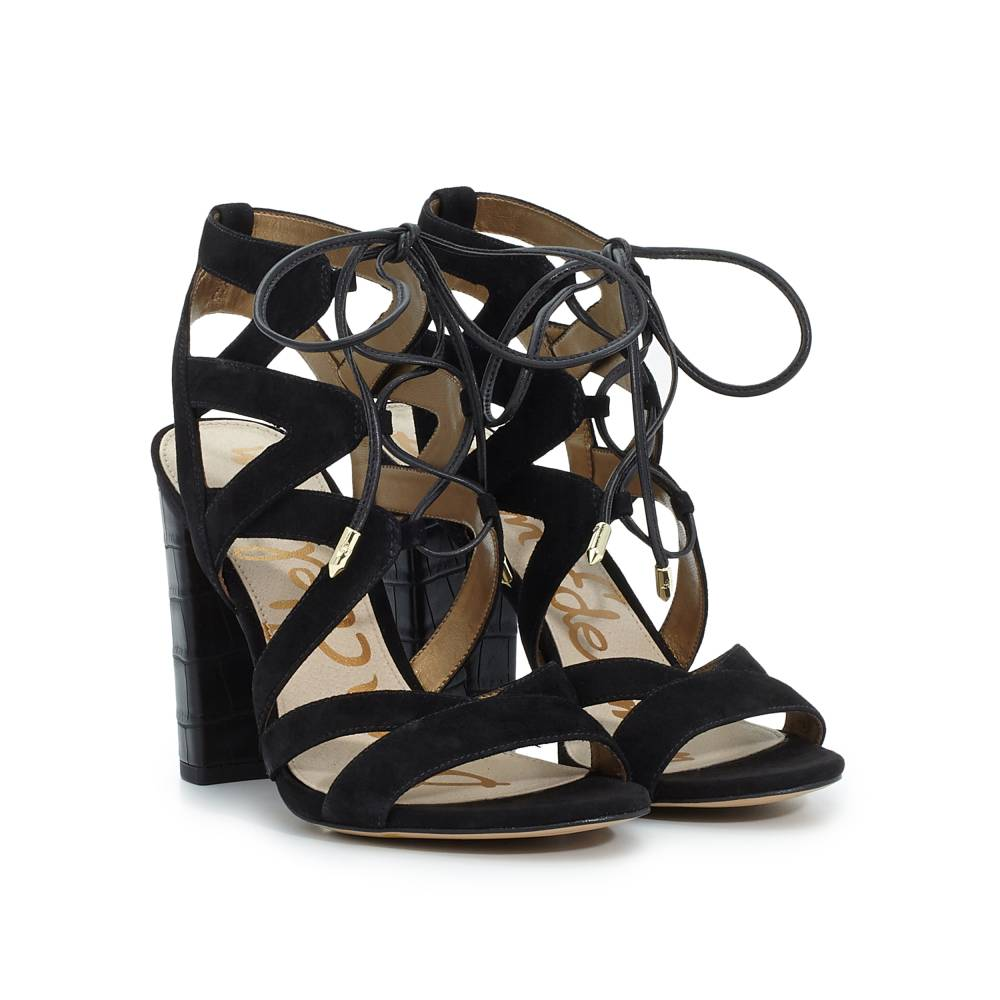 Yardley Lace-Up Heeled Sandal - Sandals | SamEdelman.com