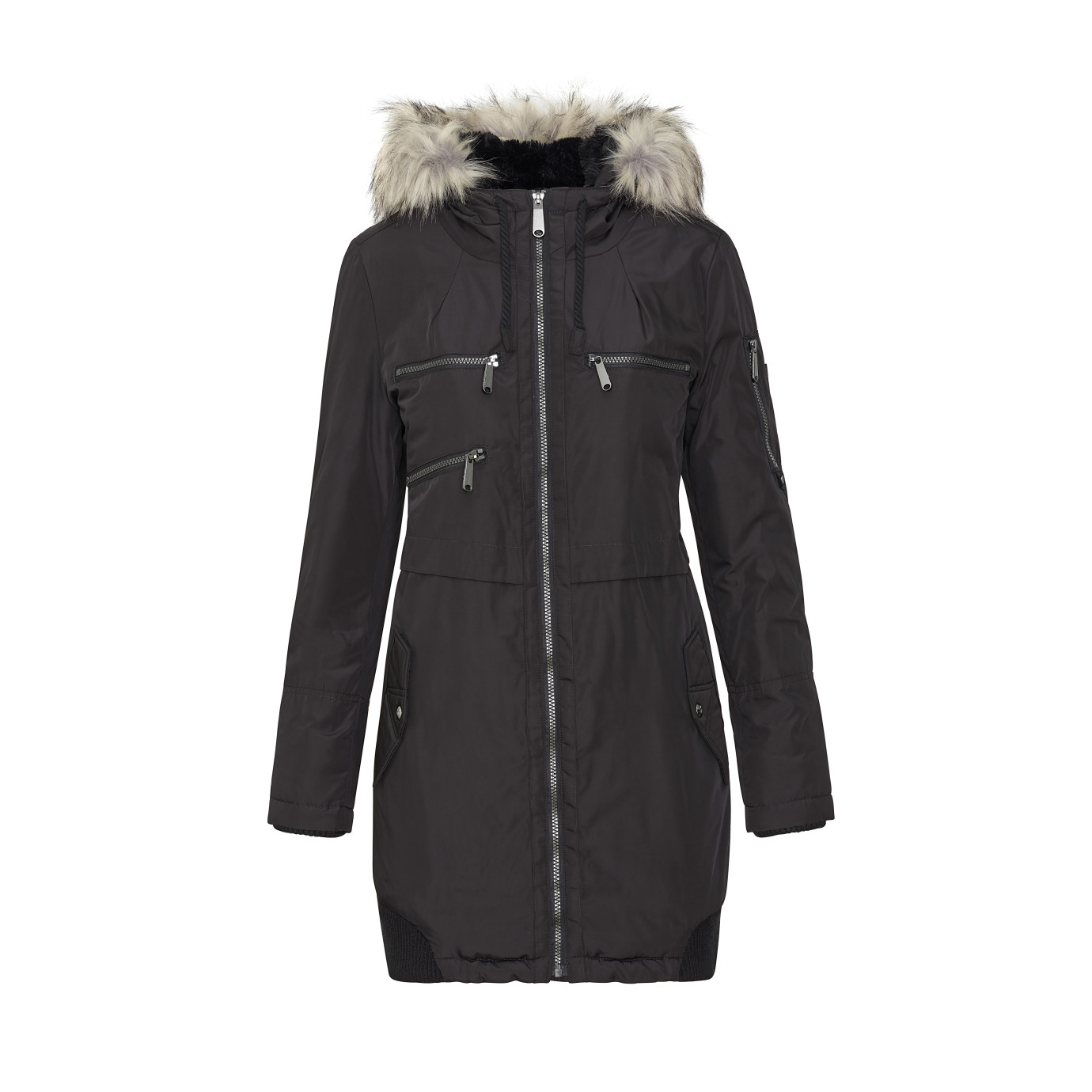Parka Jacket with Faux Fur Hood - Outerwear | SamEdelman.com