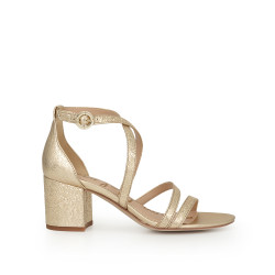 Stacie Block Heel Sandal by Sam Edelman - Gold Leather 347aa9b4e
