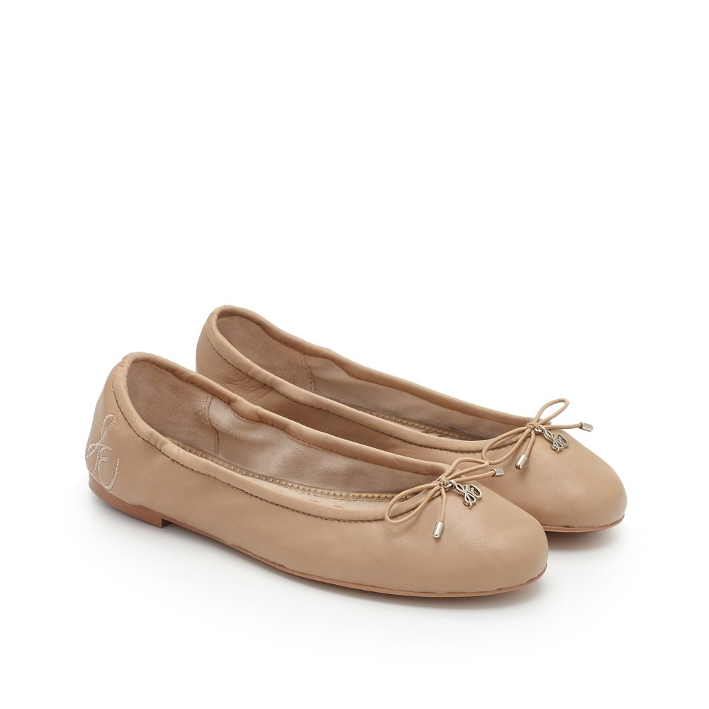 Sofft womens gold leather flat shoes uk 5 Eu 38