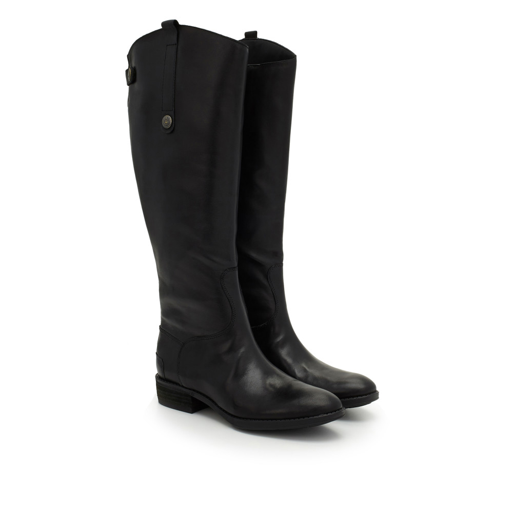 Tap Tap To Zoom. Penny2 Wide Calf Leather Riding Boot by Sam Edelman - Black  ...