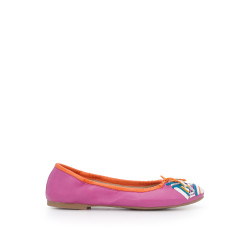 405a3c0c1ef2 Girls Felicia Ballet Flat by Sam Edelman - Hot Pink Embroidered