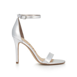 1c2add30f49 Amee Ankle Strap Sandal by Sam Edelman - Silver Leather