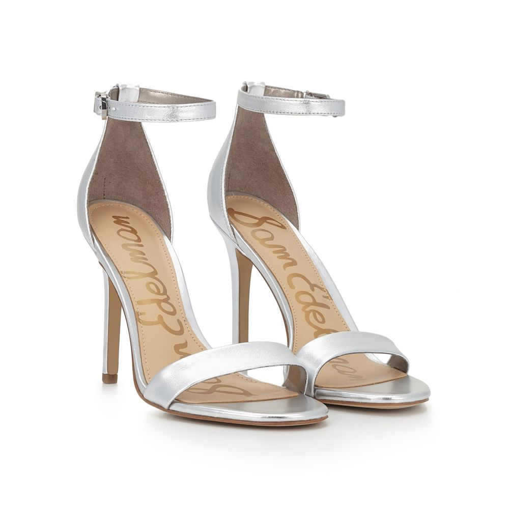 Tap Tap To Zoom. Amee Ankle Strap Sandal by Sam Edelman - Silver ...