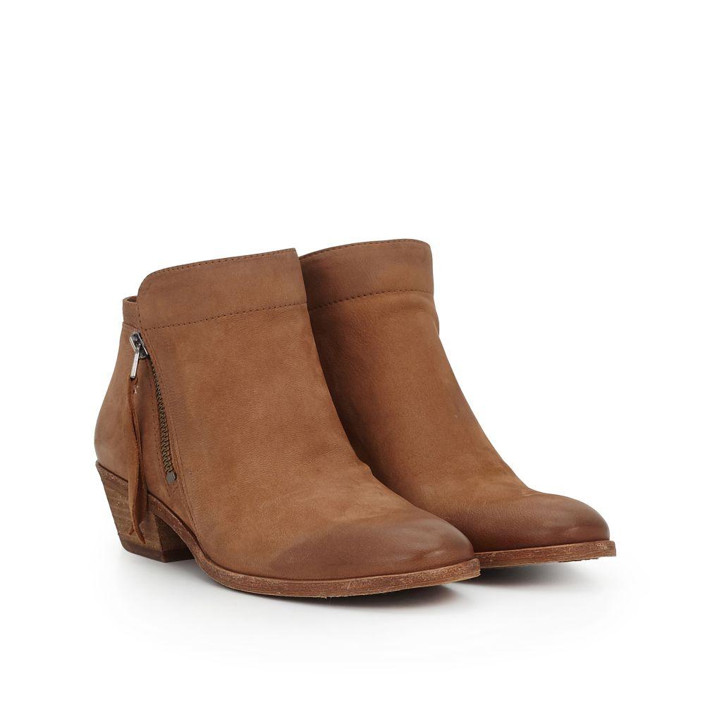 Sam Edelman Packer Leather Block Heel Booties CPwZyxIU0L