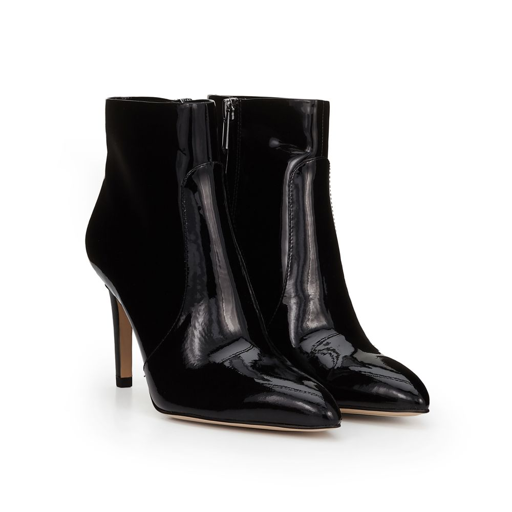 Boots for Women, Booties On Sale, Black, Patent Leather, 2017, 2.5 3.5 5.5 7.5 Off-white