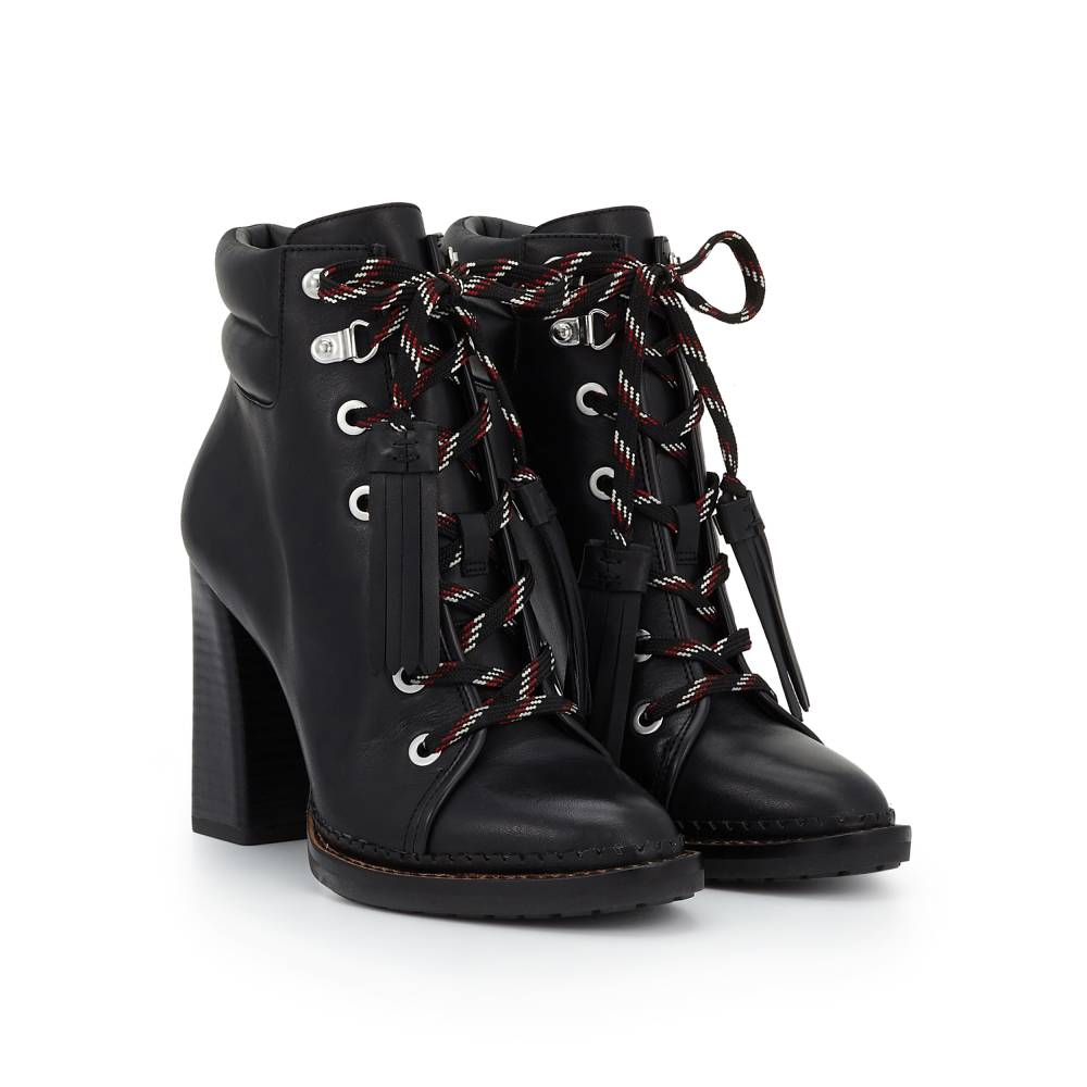 Sondra Heeled Lace-Up Bootie - Boots | SamEdelman.com
