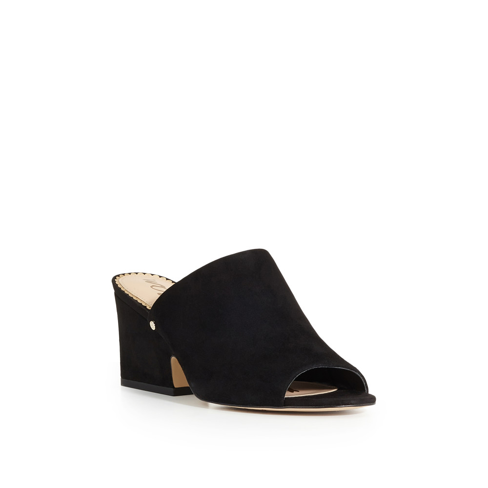 Sam Edelman Rheta Suede Dress Block Heel Mules