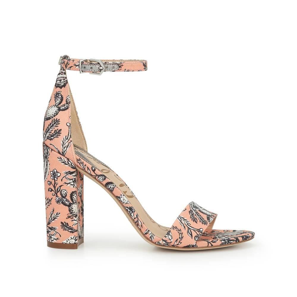 Sam edelman womens shoes and curated style features and trends yaro ankle strap sandal by sam edelman coral cactus print nvjuhfo Gallery