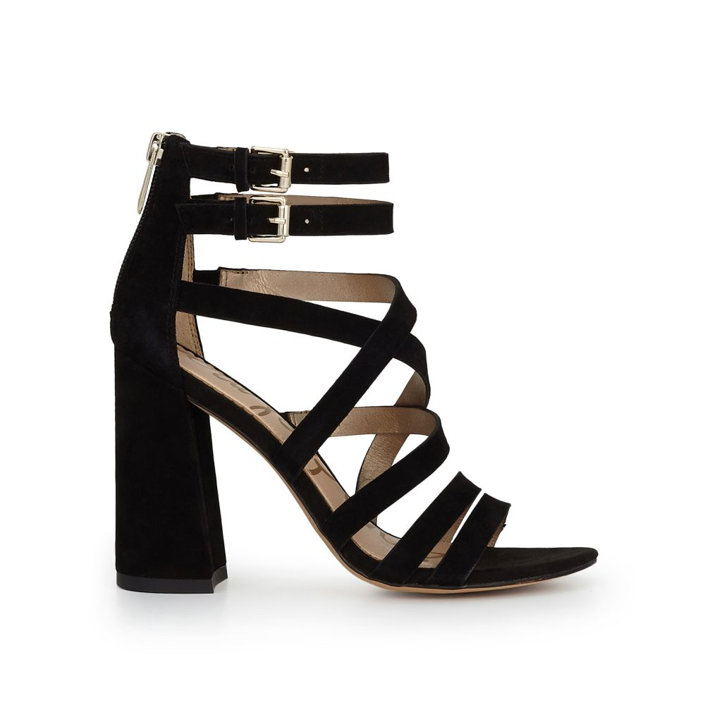Yema Suede Strappy Block Heel Dress Sandals TaDDoB