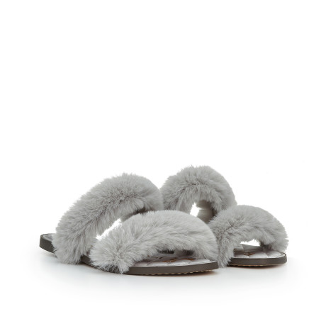 Griselda Faux Fur Slide Sandal by Sam Edelman