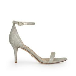 Patti Ankle Strap Sandal by Sam Edelman - Light Gold Mesh